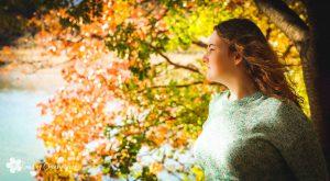Portrait à l'automne au réservoir d'Oryundae à Busan, Corée du Sud
