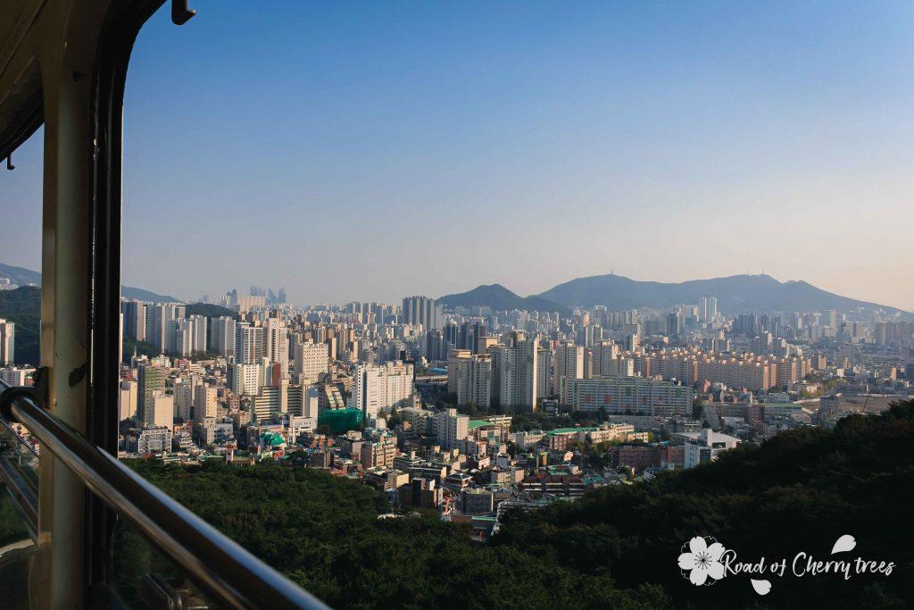Vue sur la ville de Busan depuis le téléphérique de GeumJeong